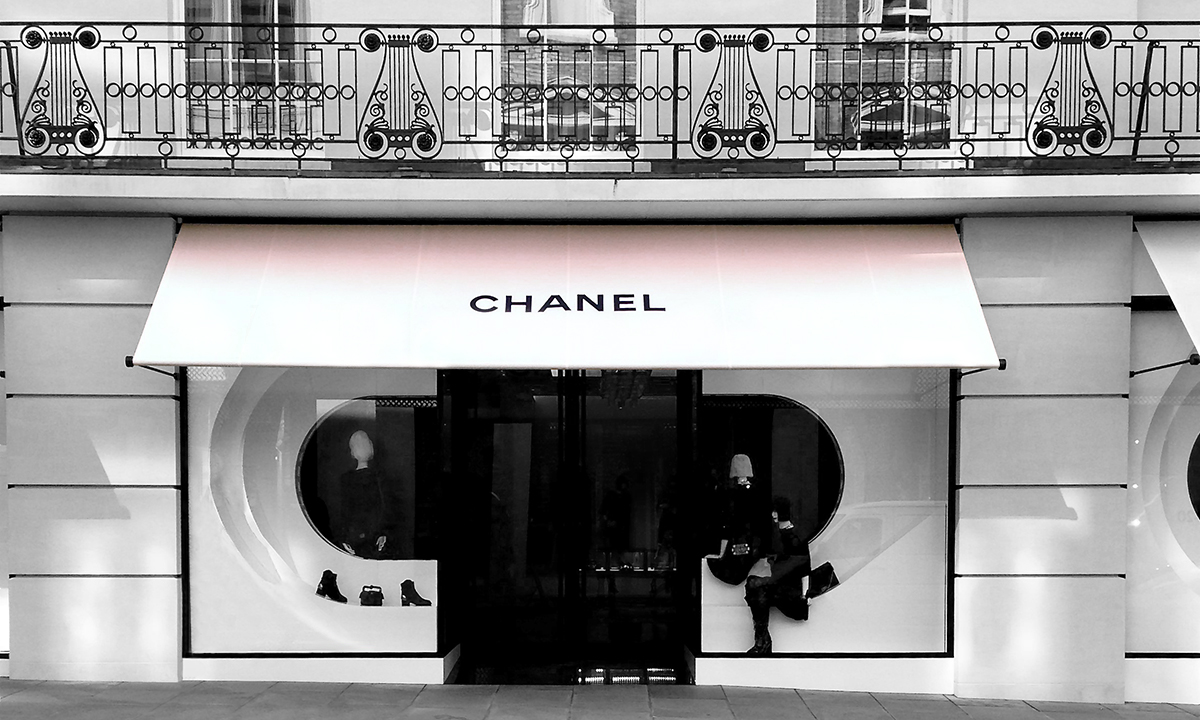 Greenwich Awning® our stylish shop awning for Chanel