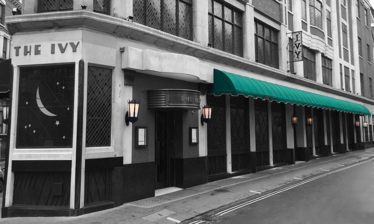 Rib Entrance® canopy for The Ivy restaurant in London
