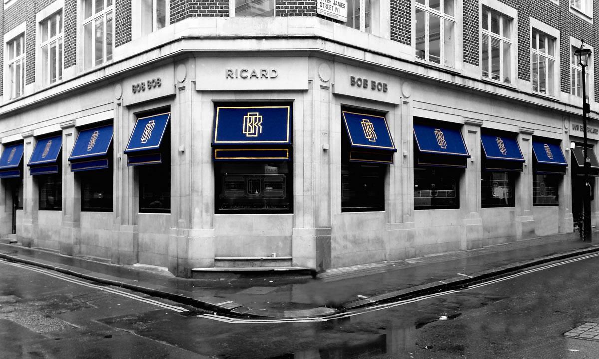 Greenwich Awning® our stylish bar awning for Bob Bob Ricard