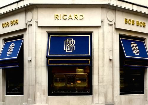 Bob Bob Ricard restaurant awnings by Morco Blinds