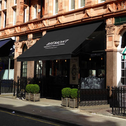Victorian awning for Bremont in Mayfair.