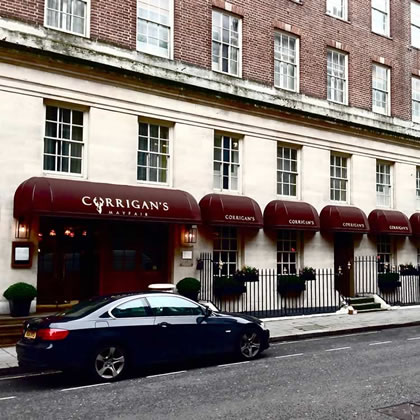 Rib Bespoke® canopy was chosen for Richard Corrigans Mayfair restaurant