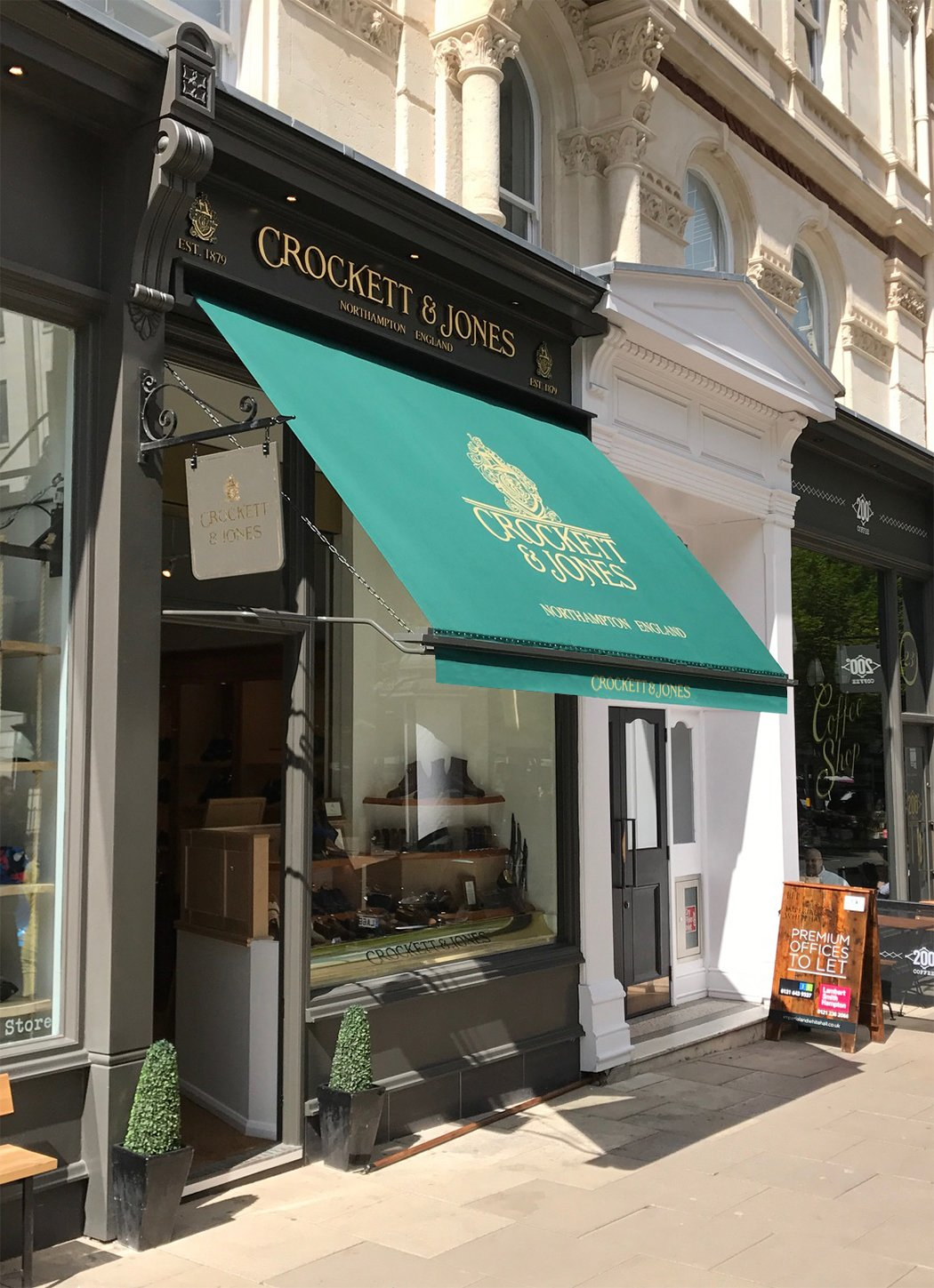 Victorian Awnings At Crocket And Jones Birmingham Morco Blinds
