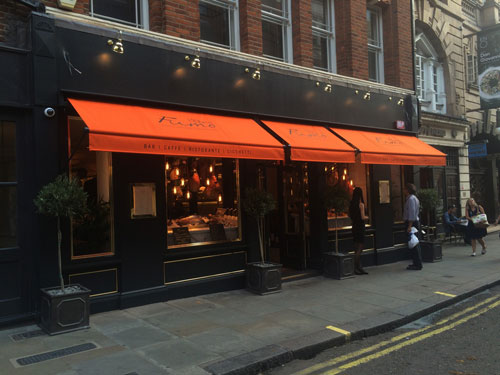Signature awnings at Fumo