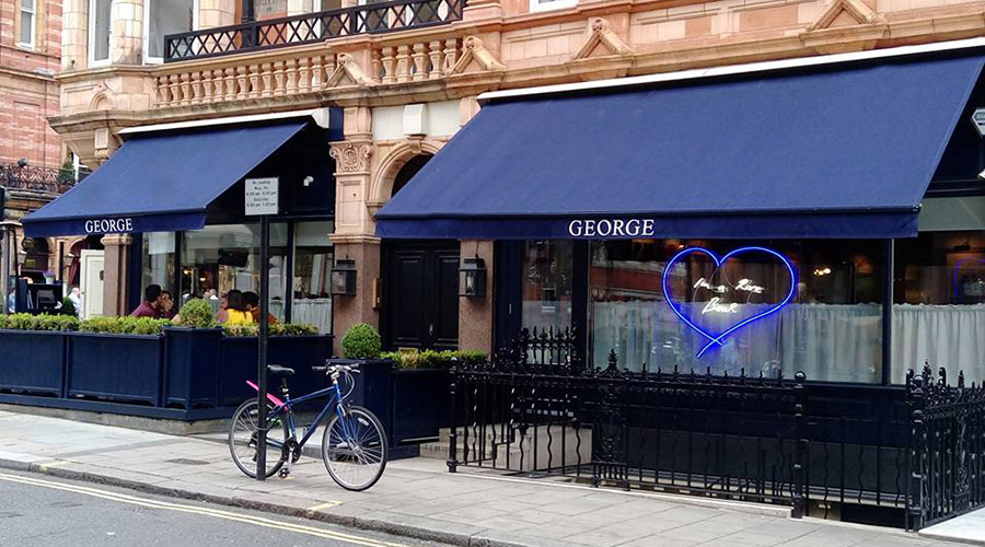 Victorian awnings at George