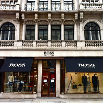 Recessed Awnings for Hugo Boss W1 London