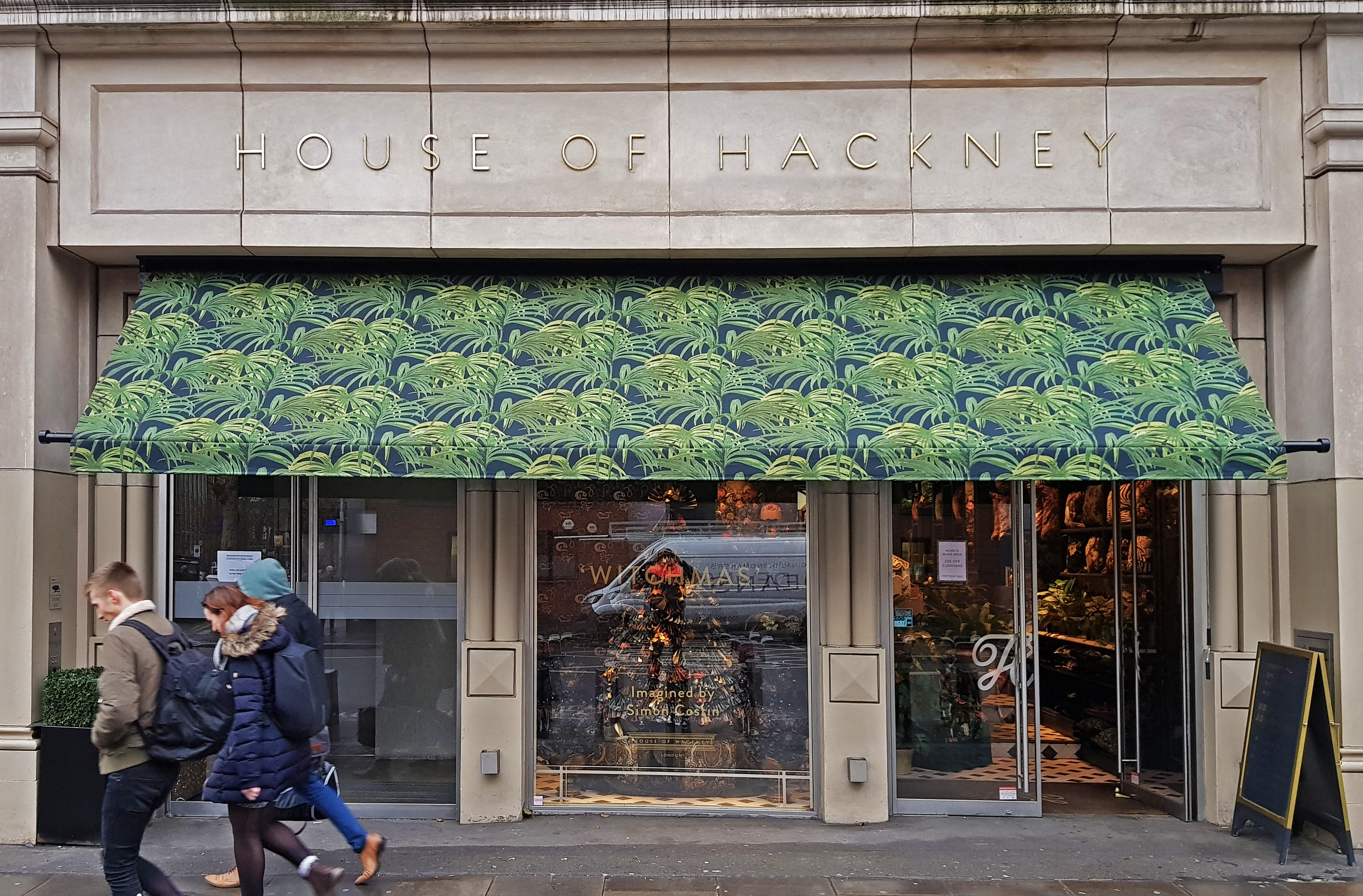 Greenwich awning at House of Hackney