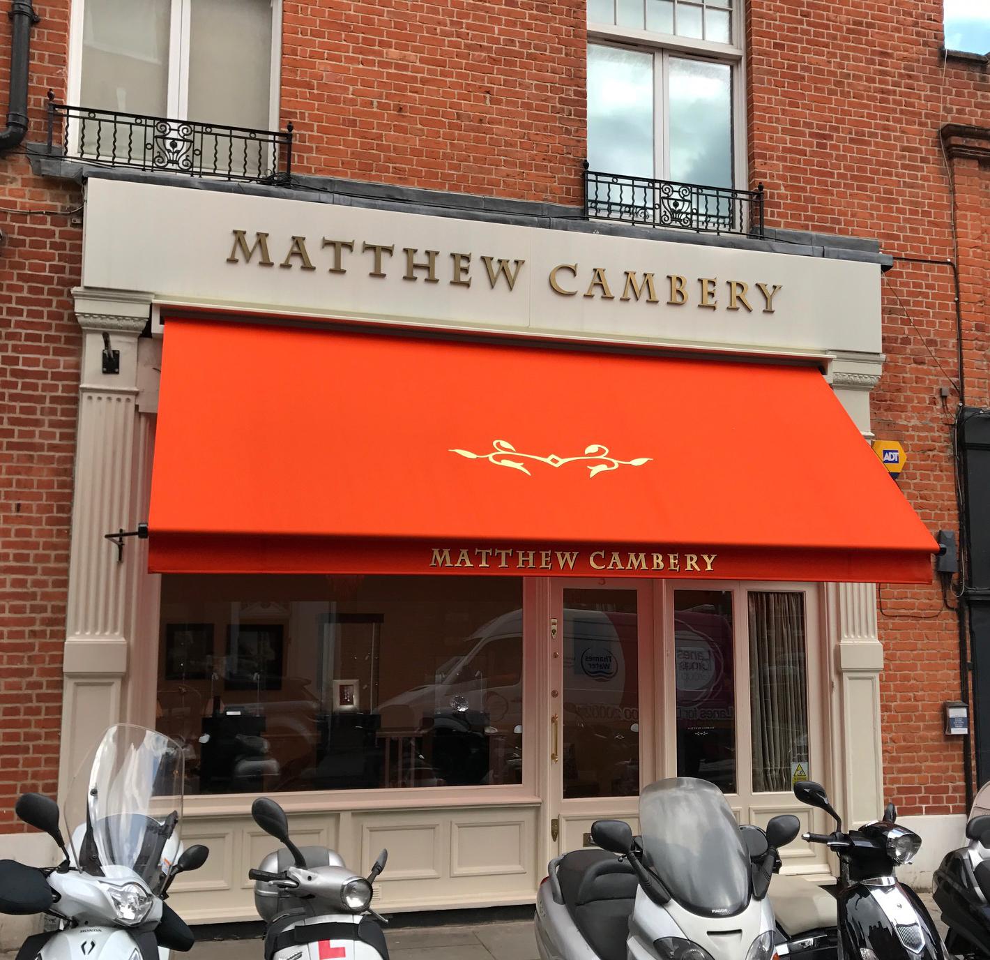 Greenwich awning Matthew Cambery
