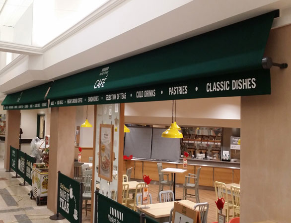 Greenwich awnings at Morrisons