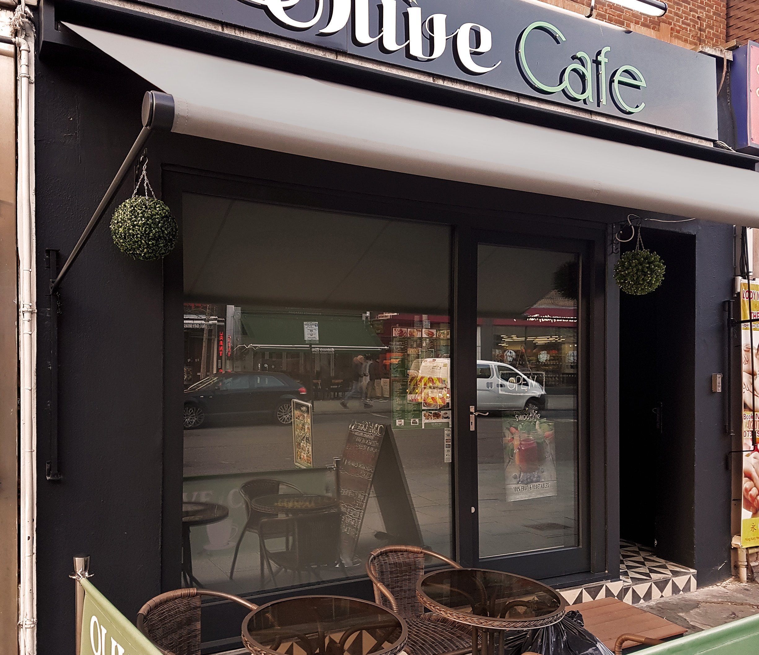Olive cafe awning 2