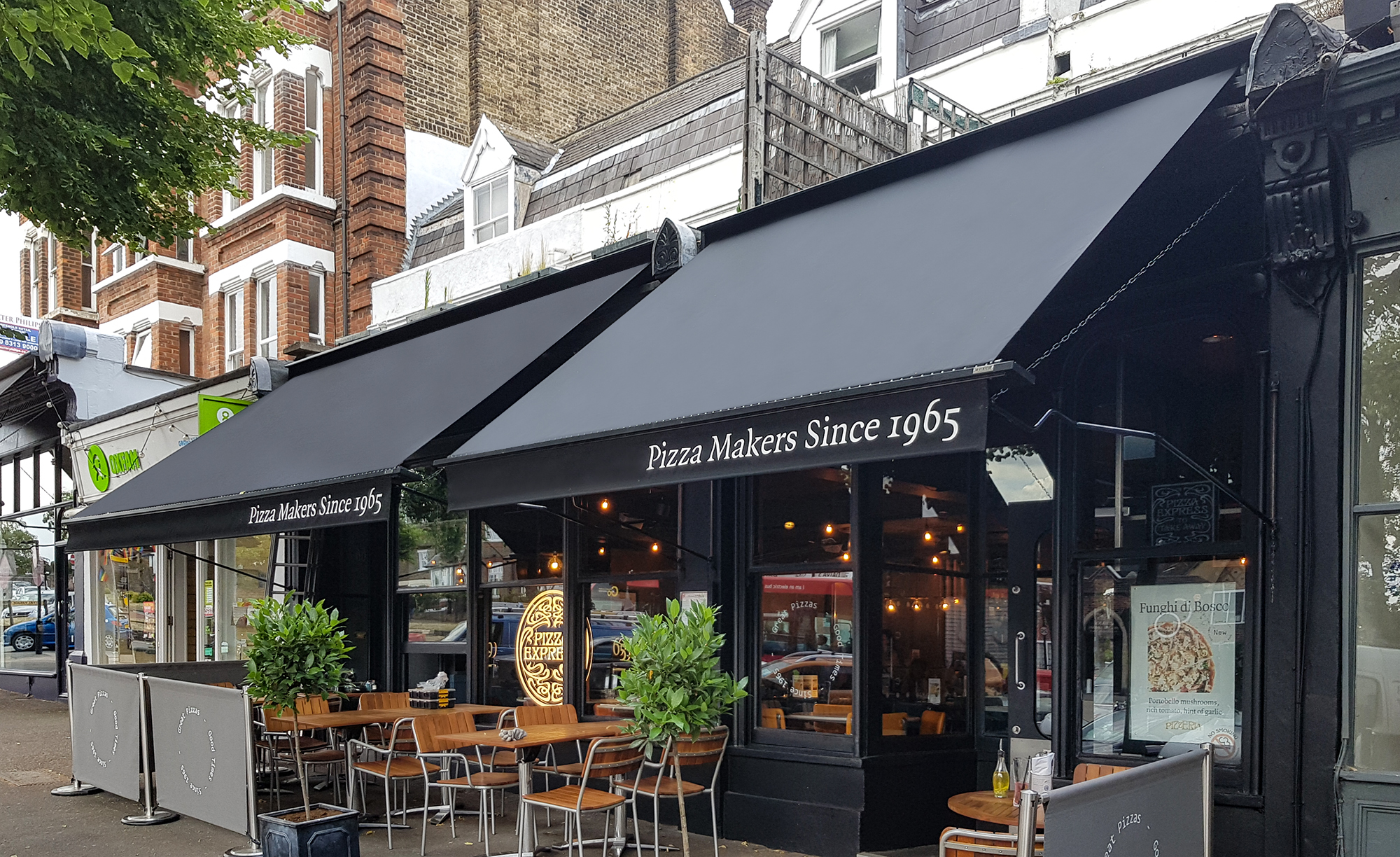 Victorian Awnings For Pizzaexpress Blackheath Morco Blinds