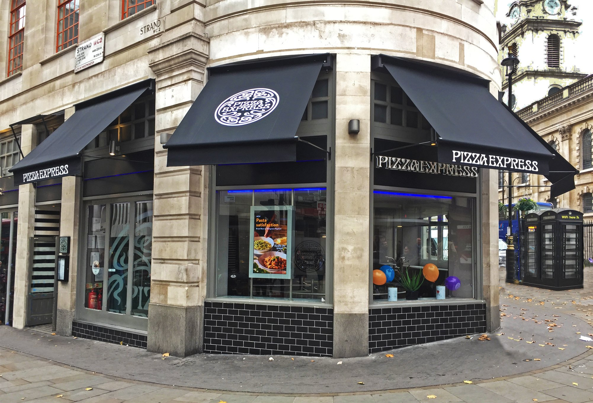 Greenwich Awnings Installed At Pizza Express The Strand