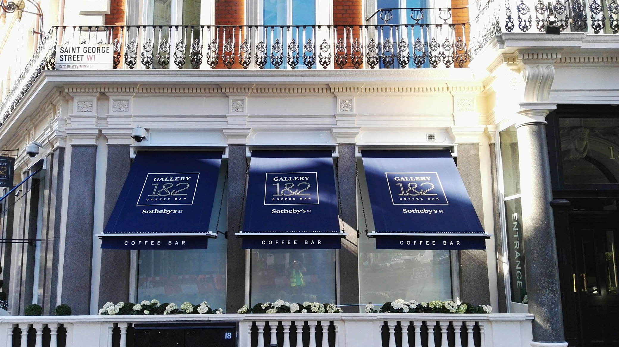 Sotheby's cafe awning