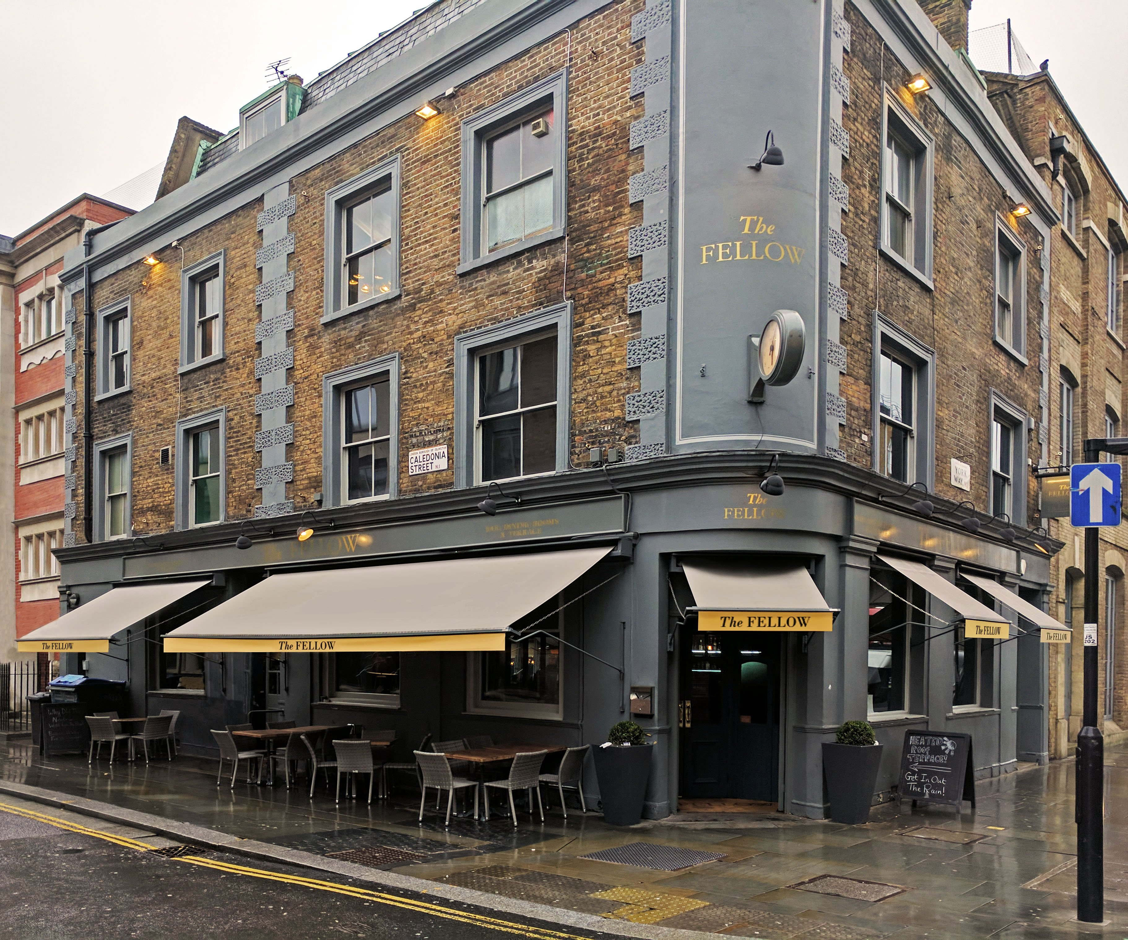 The fellow pub awnings