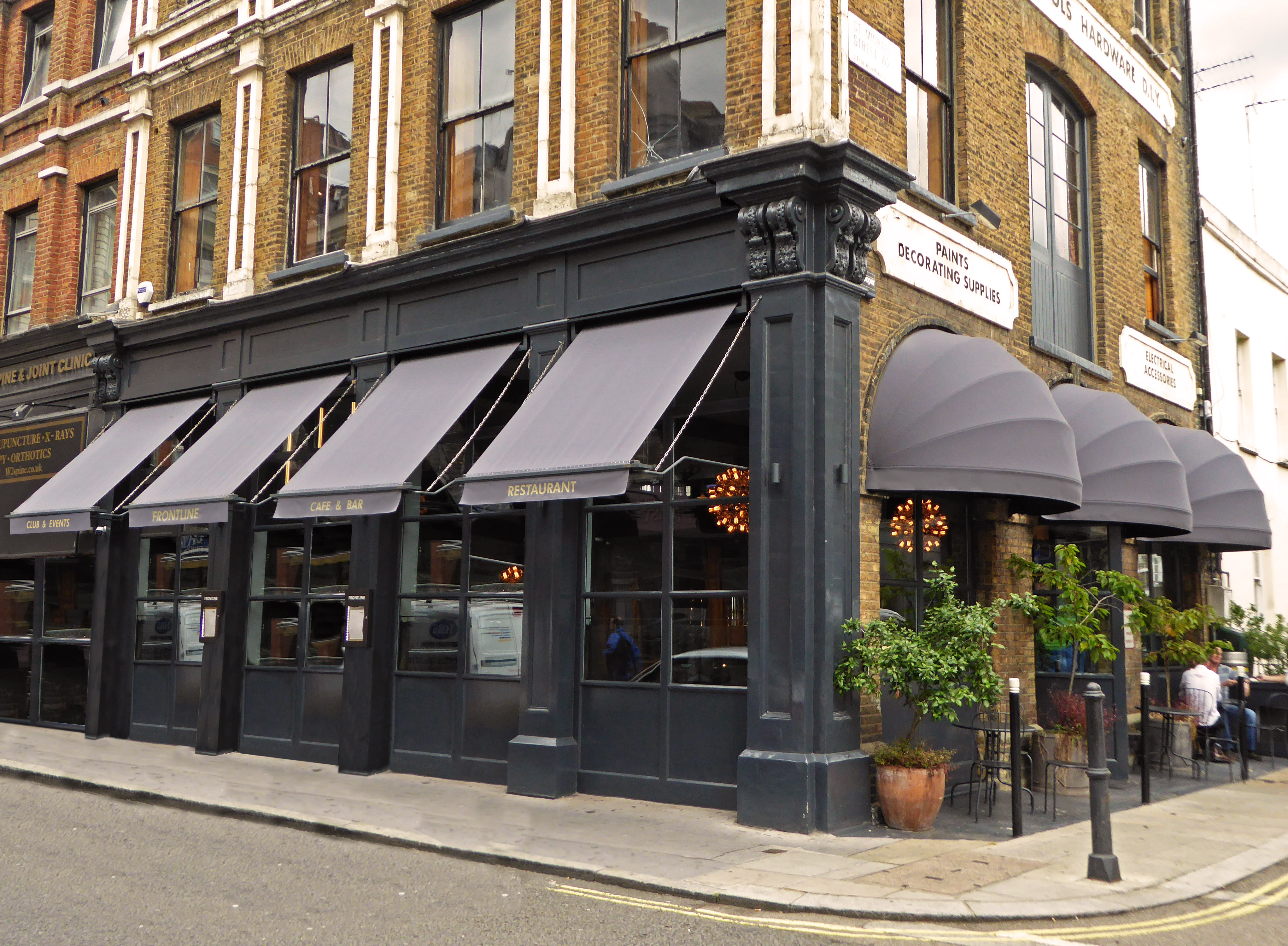 Frontline awnings and canopies