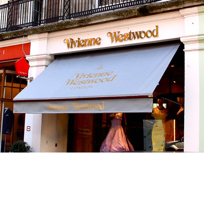 Victorian Shop Awning for Vivian Westwood