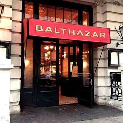 Balthazar restaurant awning