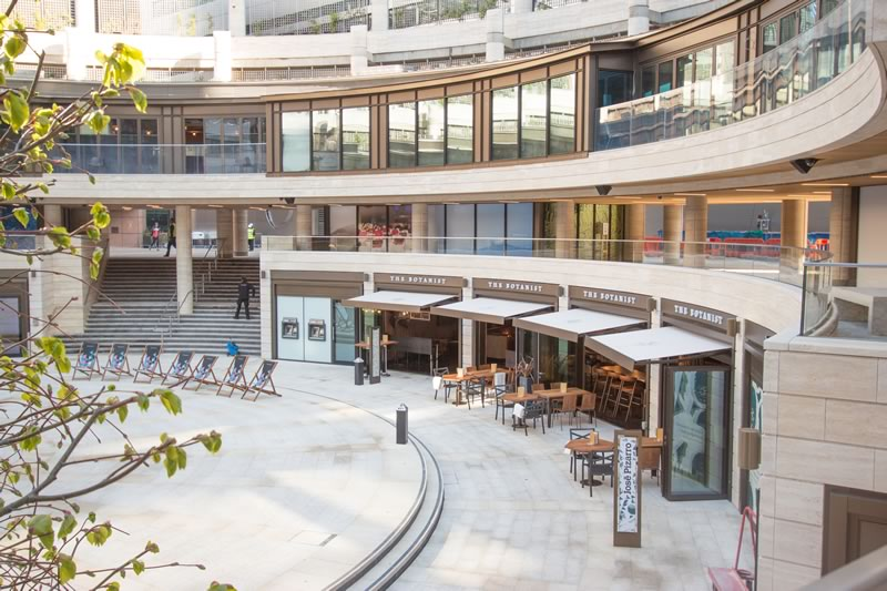 Commercial awnings for Broadgate 1
