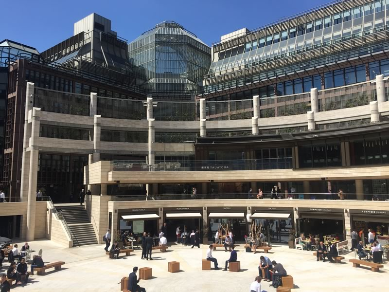 Commercial awnings for Broadgate 2