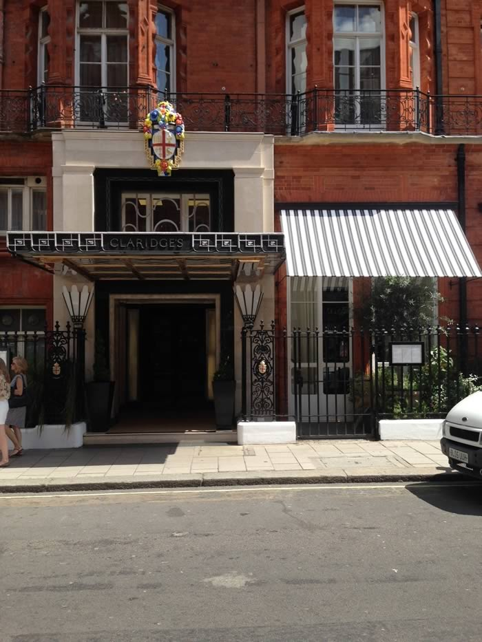 Art deco style awnings for Claridges