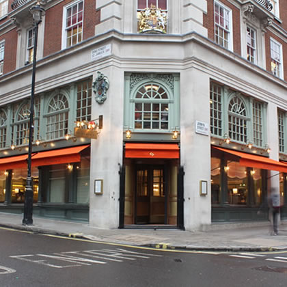 classic style Greenwich Awning® for Fortnum & Mason