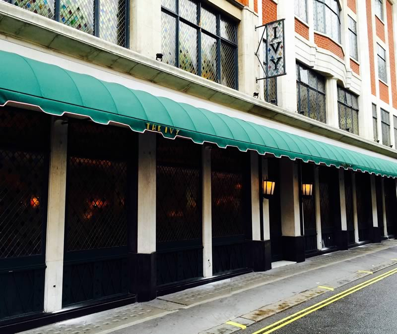 Restaurant awnings for The Ivy 2