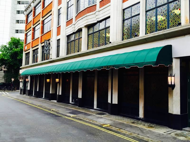 Restaurant awnings for The Ivy 3