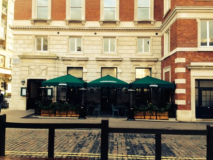 Customised Parasols For The Ivy Market Grill Morco Blinds