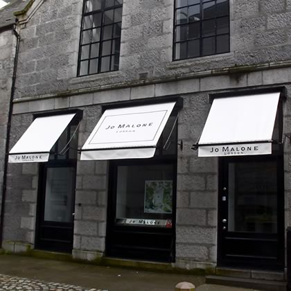 Jo Malone international store victorian awnings