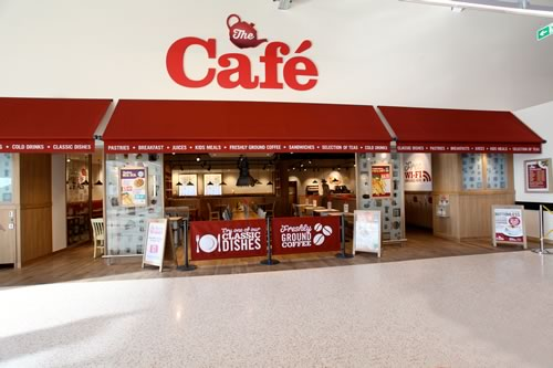 Morrisons cafe awnings by Morco Blinds