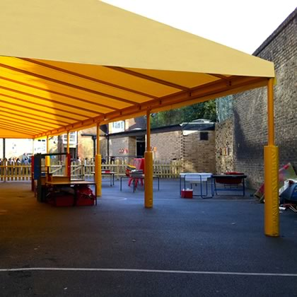 School playground cover awning by Morco