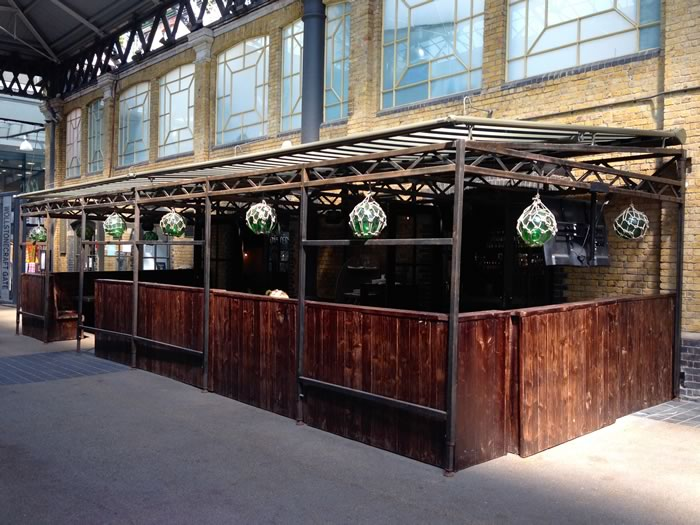 Spitalfields restaurant awning by Morco
