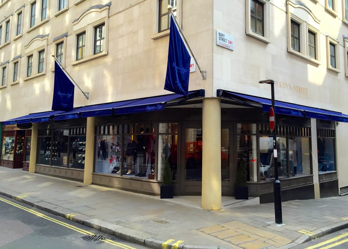 Shop awnings for Hilditch & Key - Classic Folding-Arm