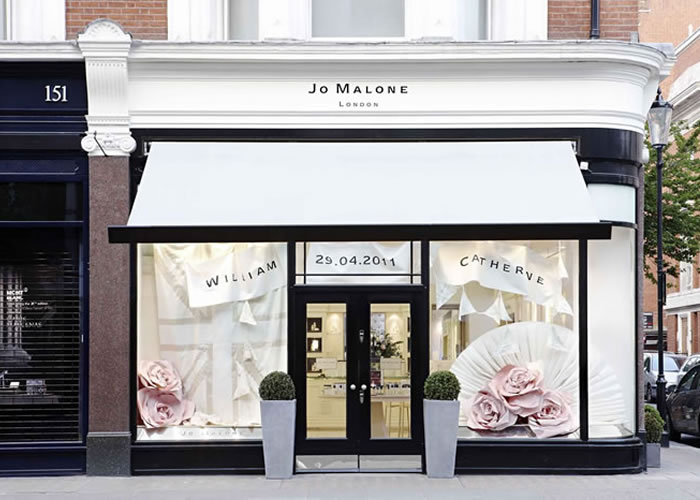 Shop-Fitted Folding-Arm for Jo Malone