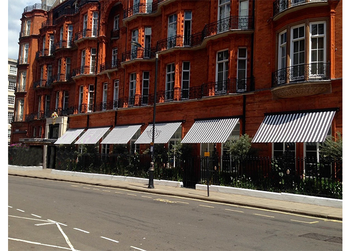 Our heritage Marlesbury Awning® for Claridges restaurant