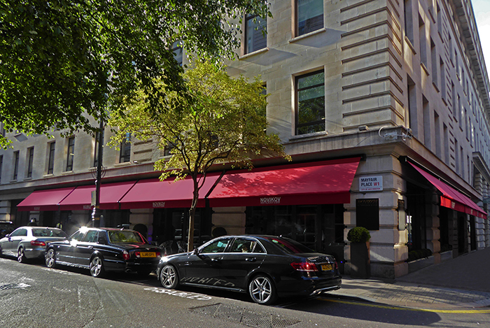 Greenwich® Awning for Novikov Restaurant and Bar - Mayfair