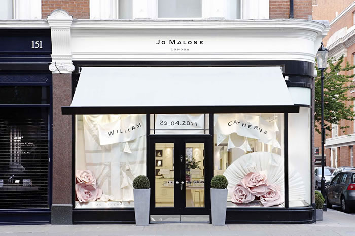 Signature Shop-Fitted Folding-Arm Canopy for Jo Malone