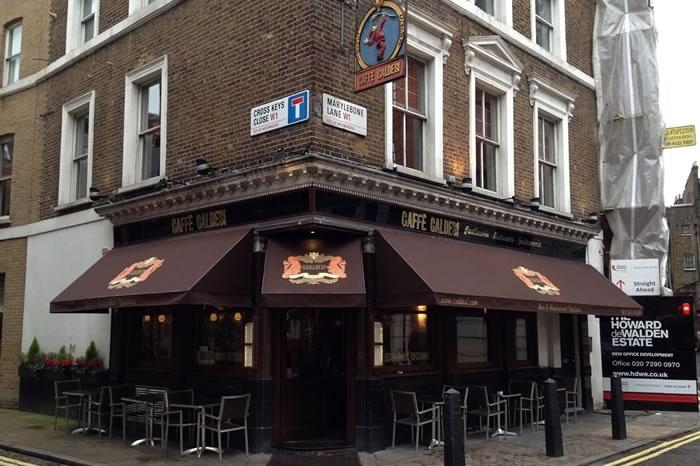 Classic RIB Wedge Canopy® for Caffe Caldesi restaurant & RIB® Wedge | Morco Blinds