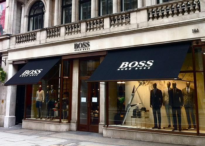 Bespoke Victorian Awning by Morco for Hugo Boss Flagship Store