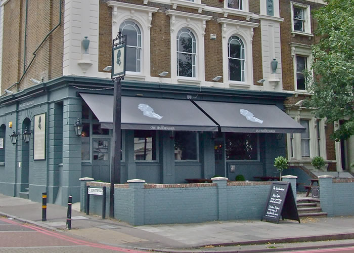 Victorian Pub Awnings for the Old Habadashers near Goldsmiths
