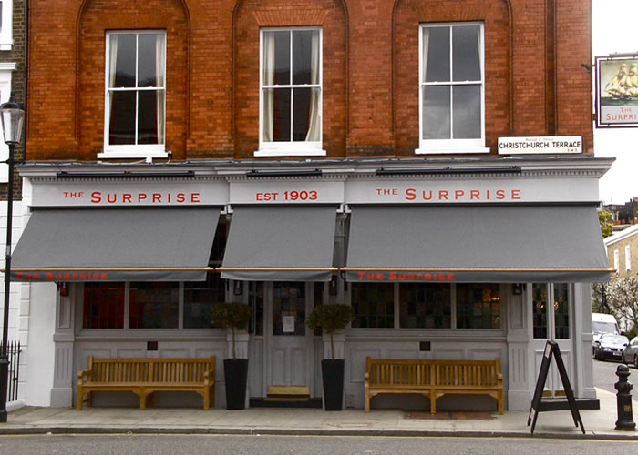 Pub Awnings for The Surprise in Chelsea