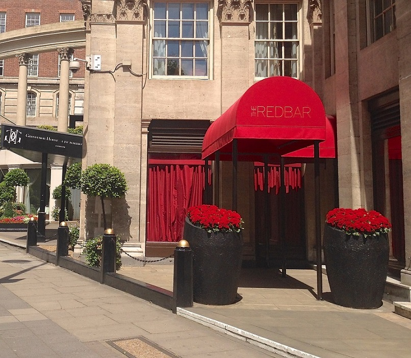 Entrance canopy fixed to the Grosvenor Hotel, Park Lane