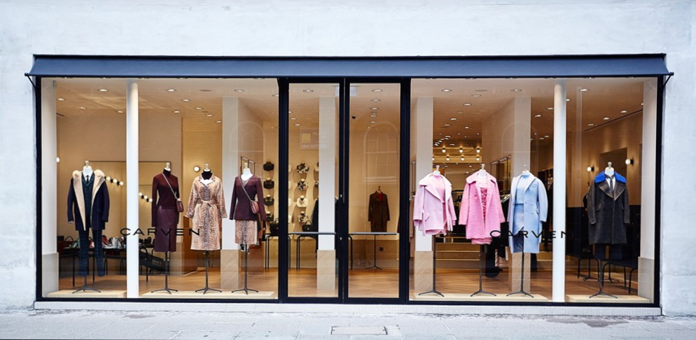 Carven of Paris choose Morco custom canopy for first London boutique