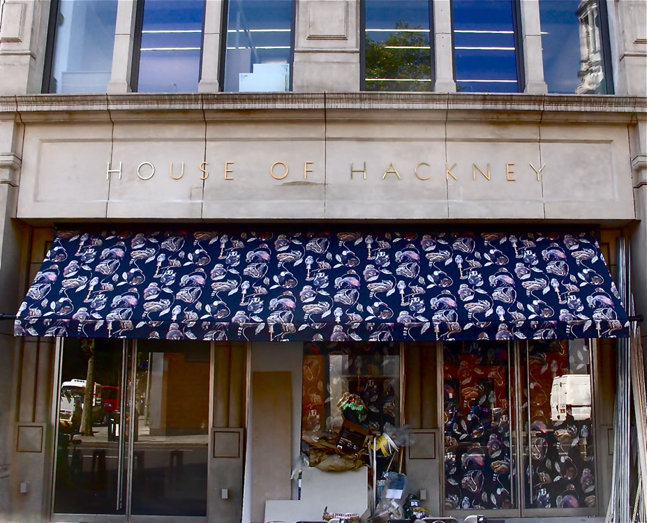 House of Hackney bespoke Art-line Regency awning