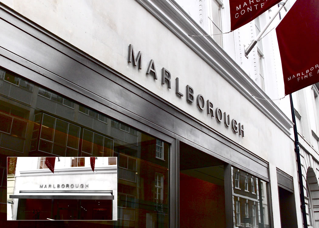 Stainless steel fitted folding arm awning for Marlborough Art Gallery