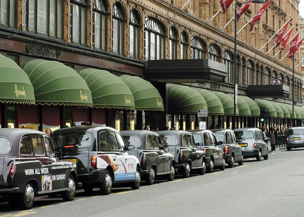 Shop awning at Harrods