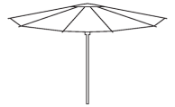signature parasol line drawing