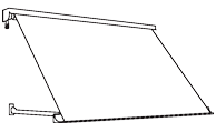drop-arm canopy line drawing