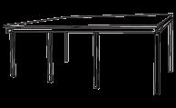 Fremantle sepele® terrace awning line drawing