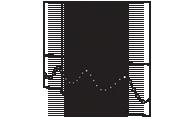 vertical blind line drawing